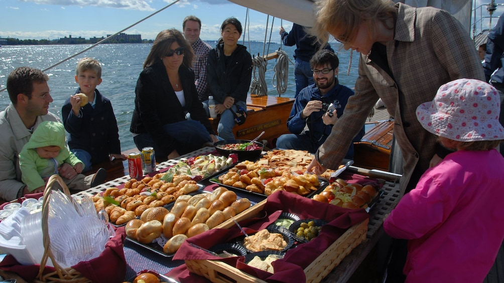 Charger l'élément 1 sur 10. Bagels and Pastries on board the Shearwater