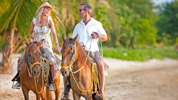 Plage et promenade à cheval