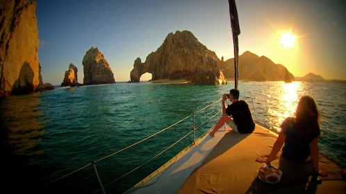 Photographer capturing the sunset in Los Cabos