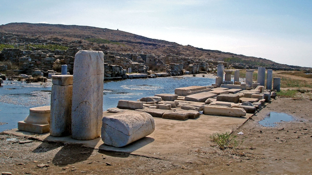 Show item 9 of 9. Ruins of a temple on Delos