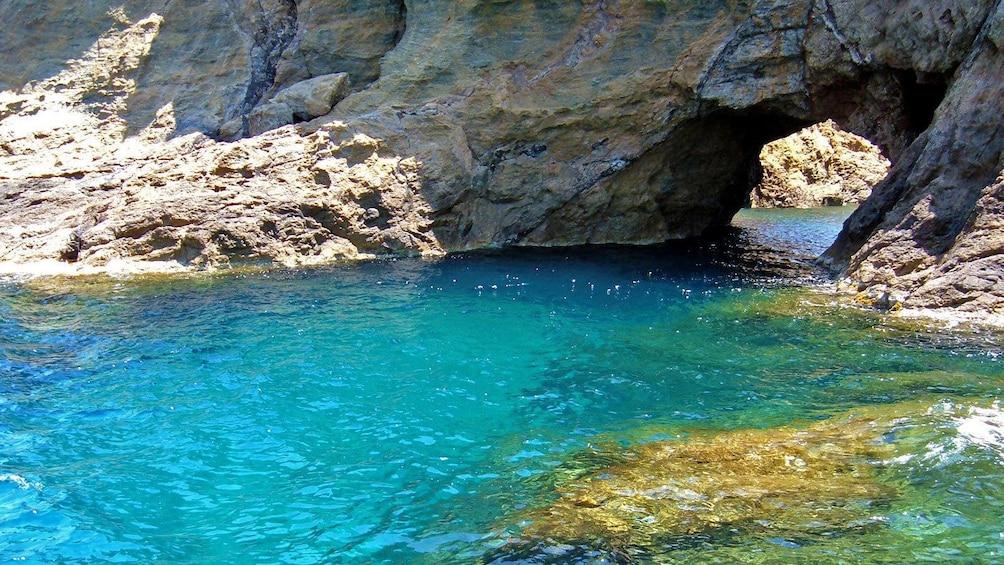 Rock arch on Dragonissi Island