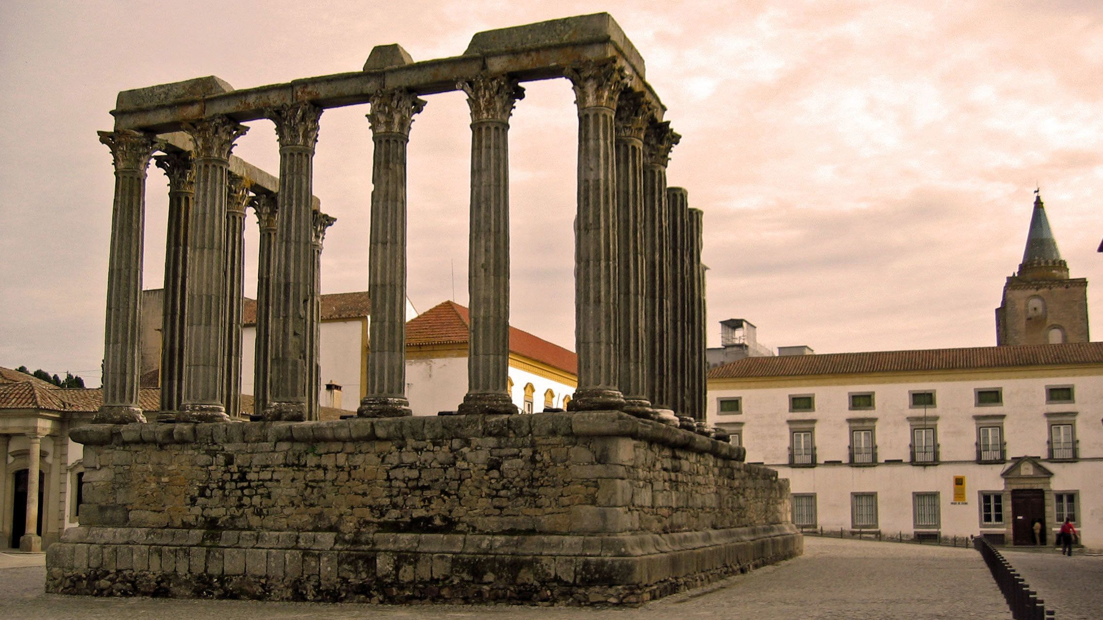 Ruins of a Roman temple in Evora