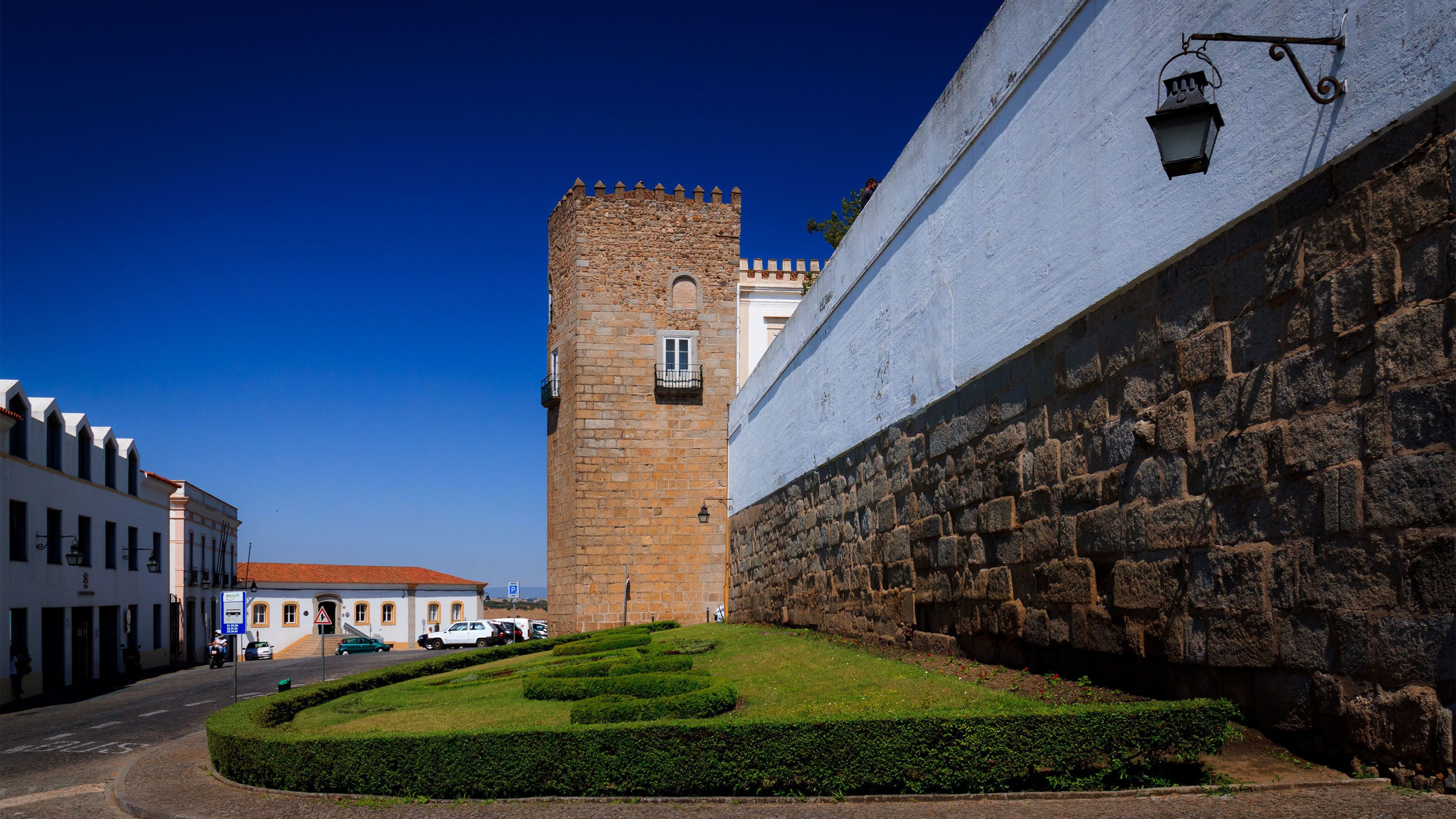 Ancient city walls of Evora