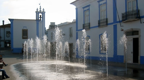 Fountain in front of Town Hall in Arraiolos