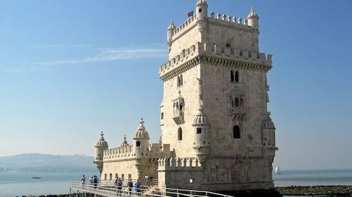 Belém Tower on the coast in Lisbon