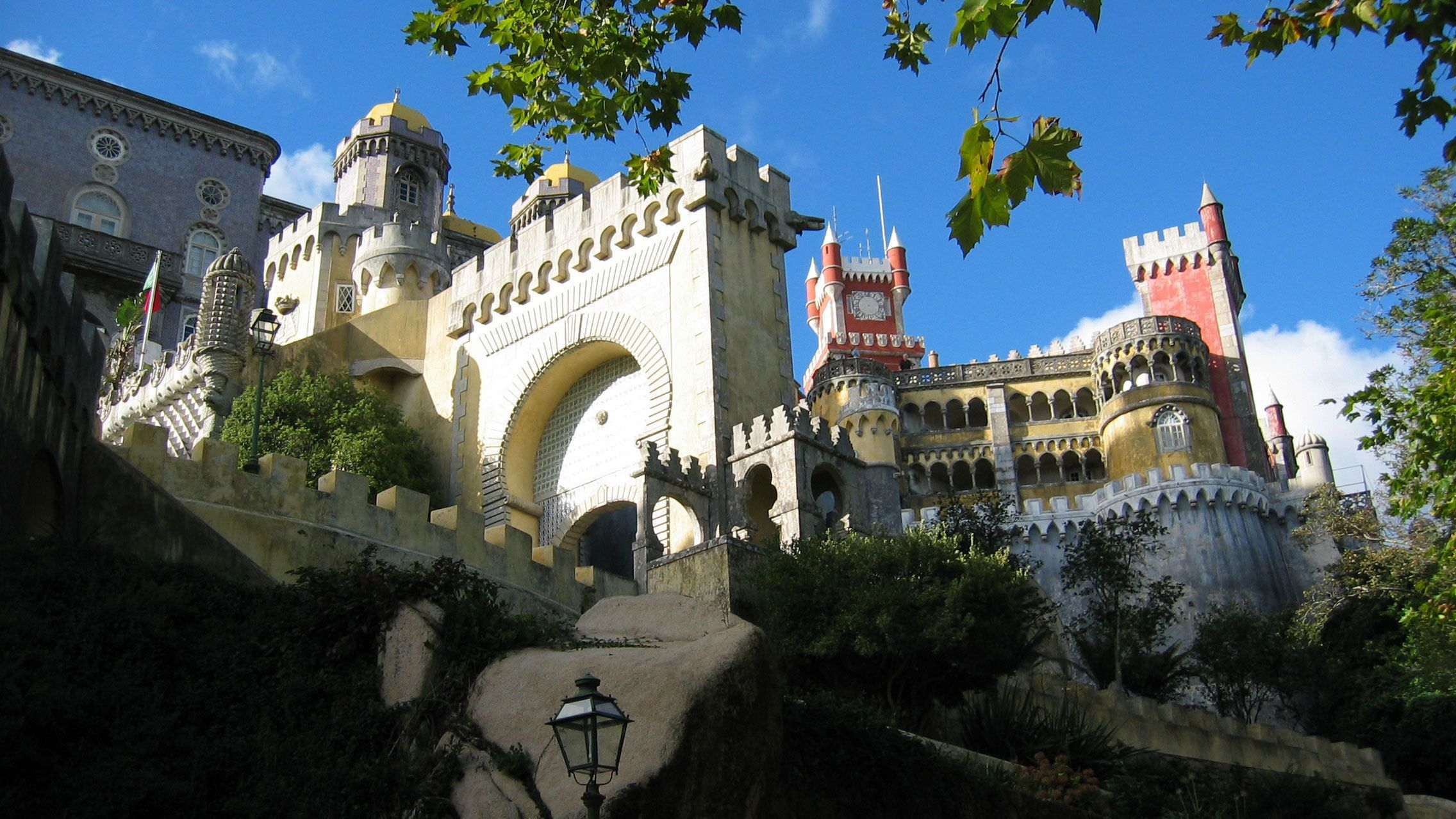 Colorful Pena National Palace in Sintra