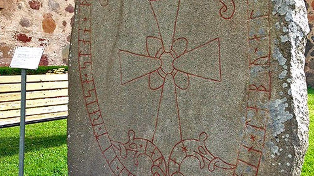 Stone rune landmark in Sweden