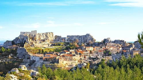Village des Baux on hill top in Marseille France