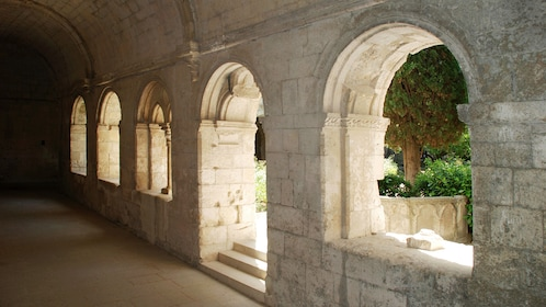 arched window at Abbey Senanque in Marseille