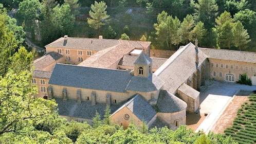 ariel view of Abbey Senanque in Marseille