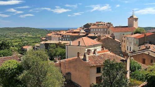 building roof tops in Bormes village in Marseille