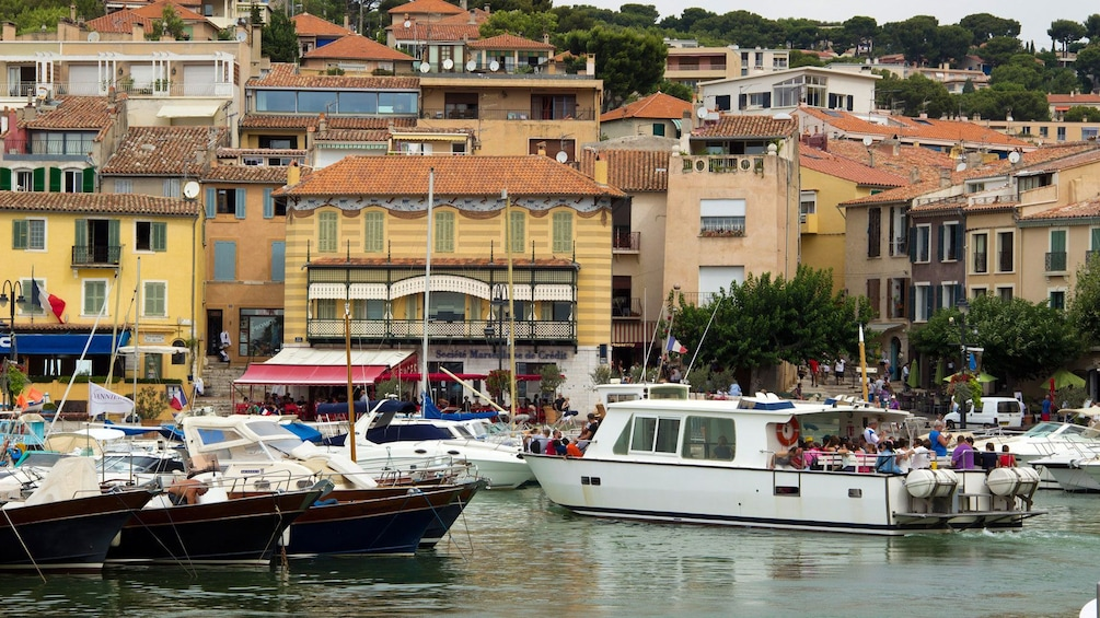 Show item 8 of 8. small pleasure scraft in harbor at The coast of Provence in Marseille