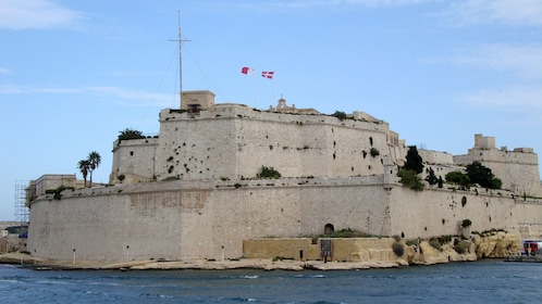 Historical fort on the coast in Malta