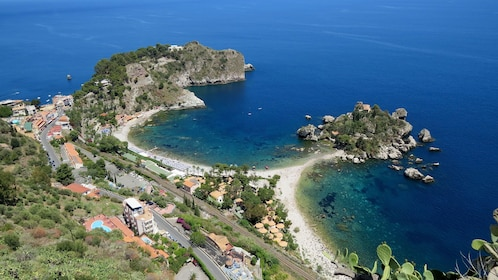Aerial view of the coast of Sicily