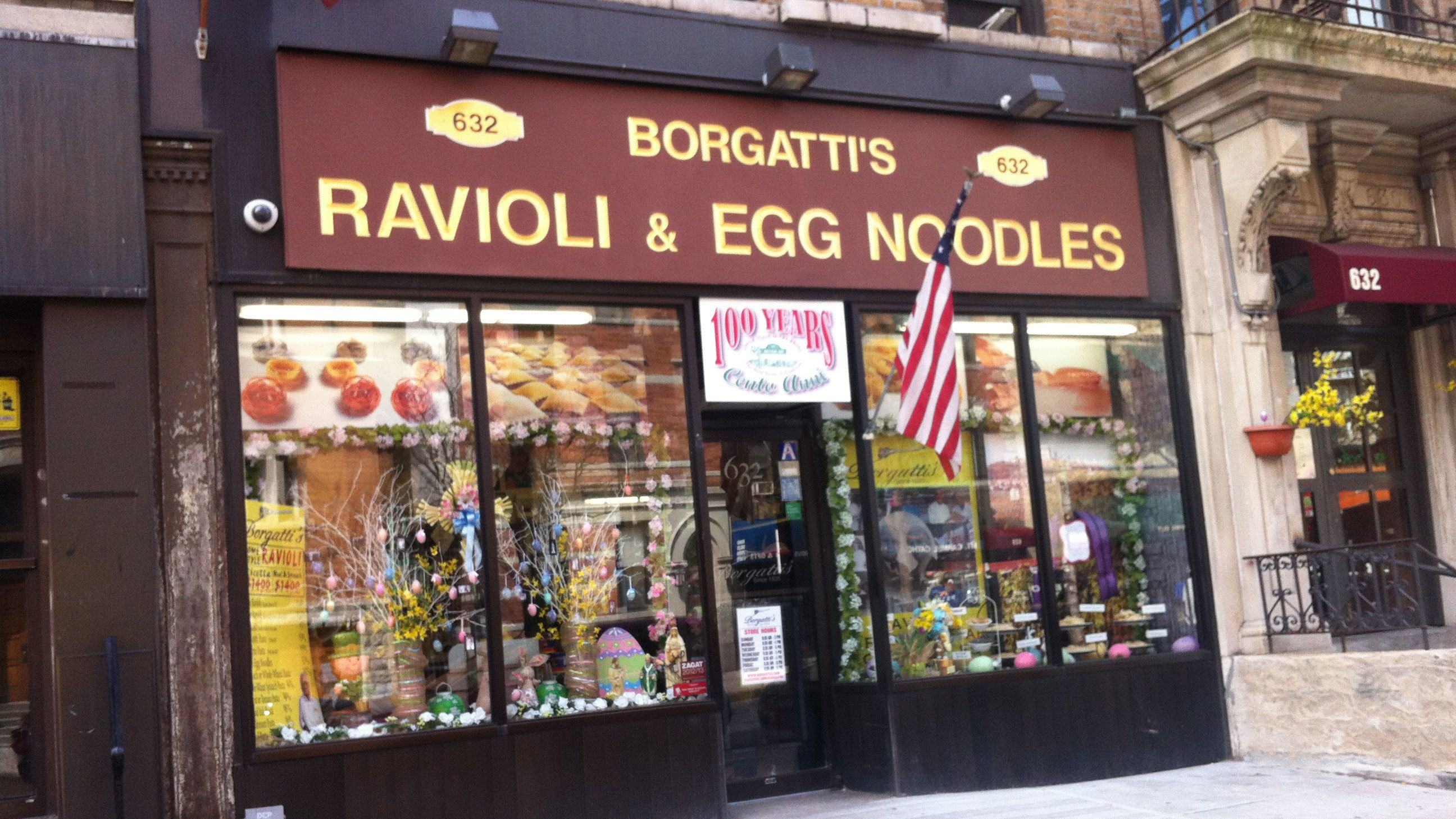 Noodle shop storefront in Little Italy New York