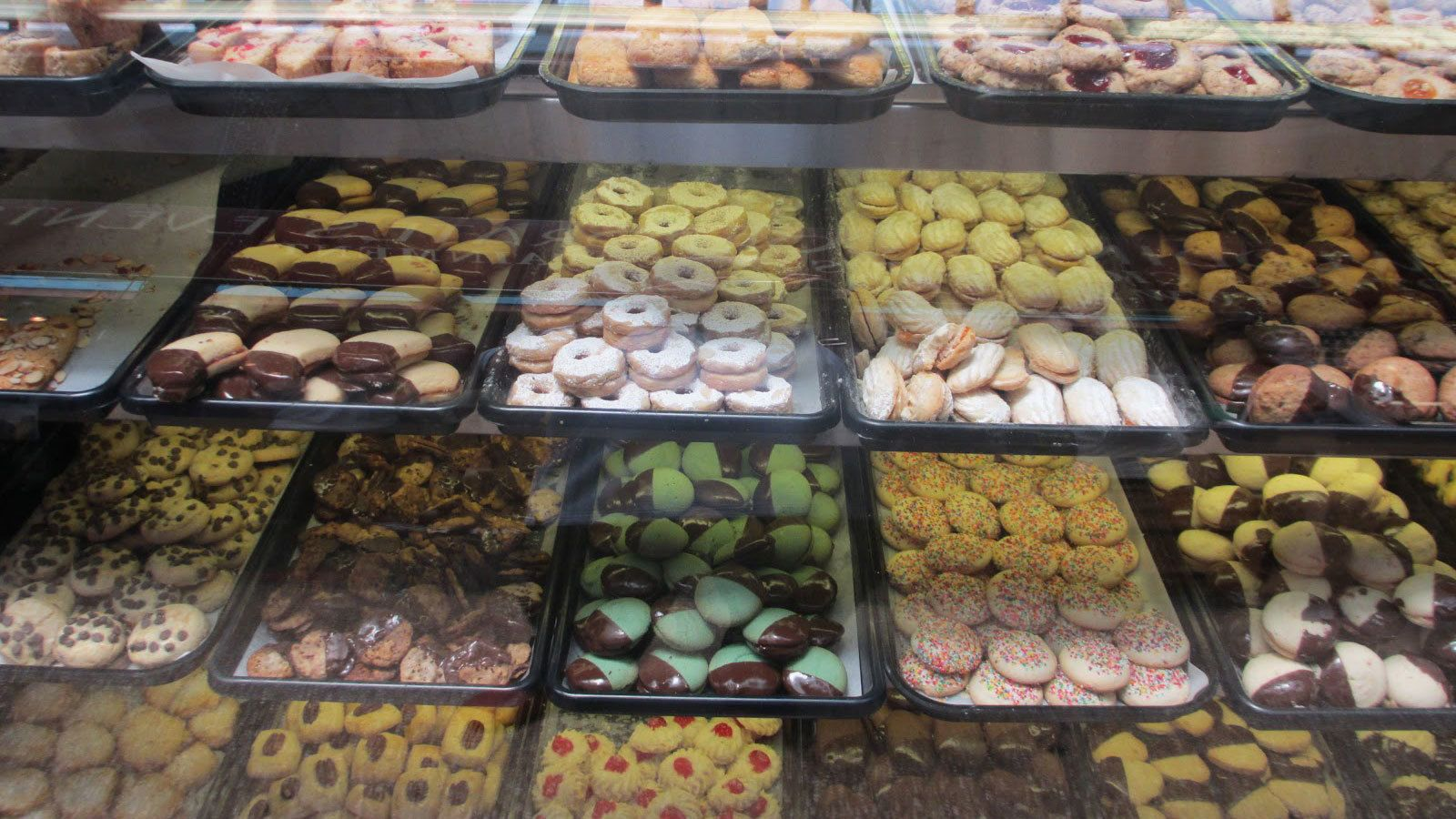 Display of Italian pastries in New York