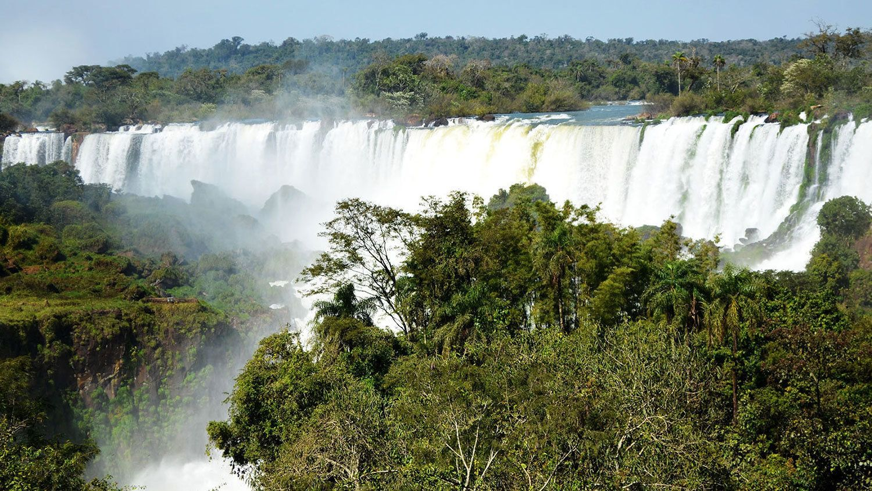 Iguazu Falls in Argentina.