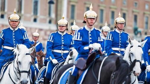 Stockholm guards on horses in Sweden
