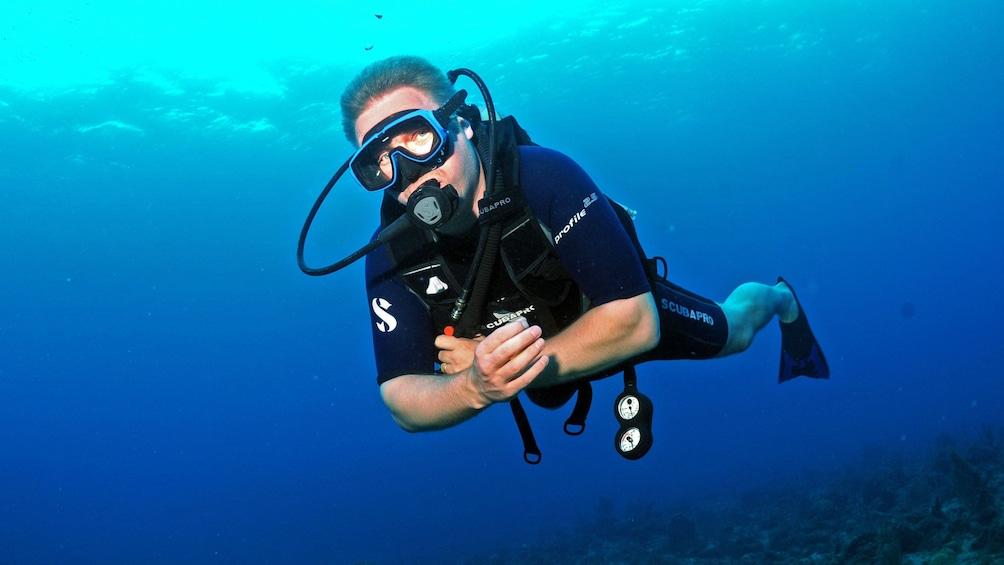 Show item 10 of 10. Scuba diver in Saint Martin
