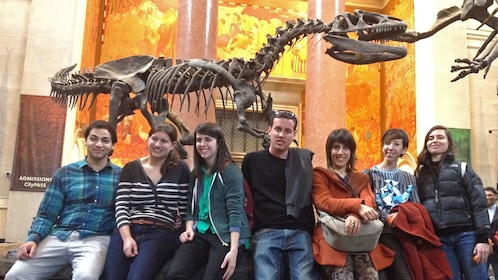 Museum of Natural History tour group in New York