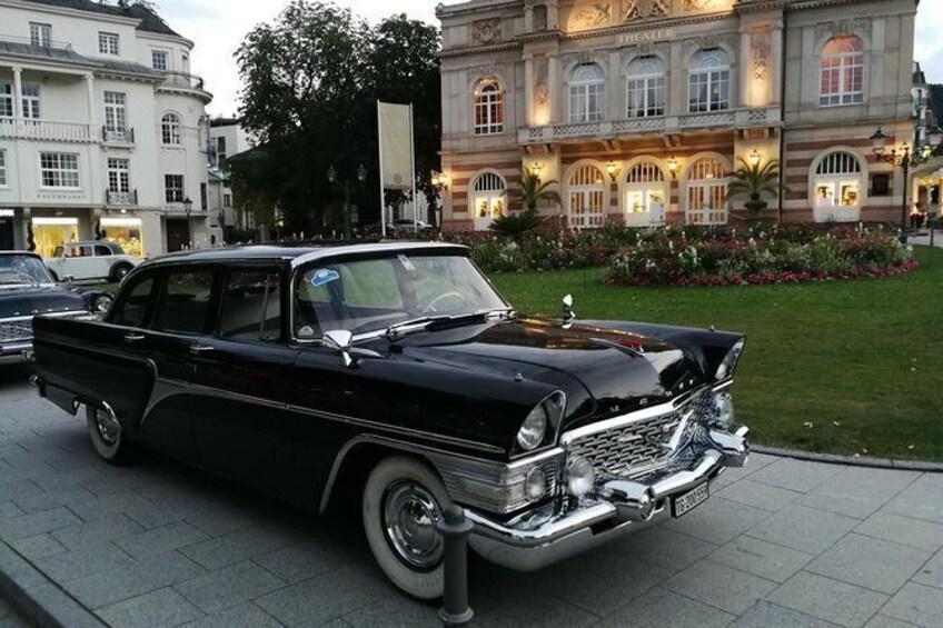 Show item 4 of 10. Vintage car in the heart of Baden-Baden