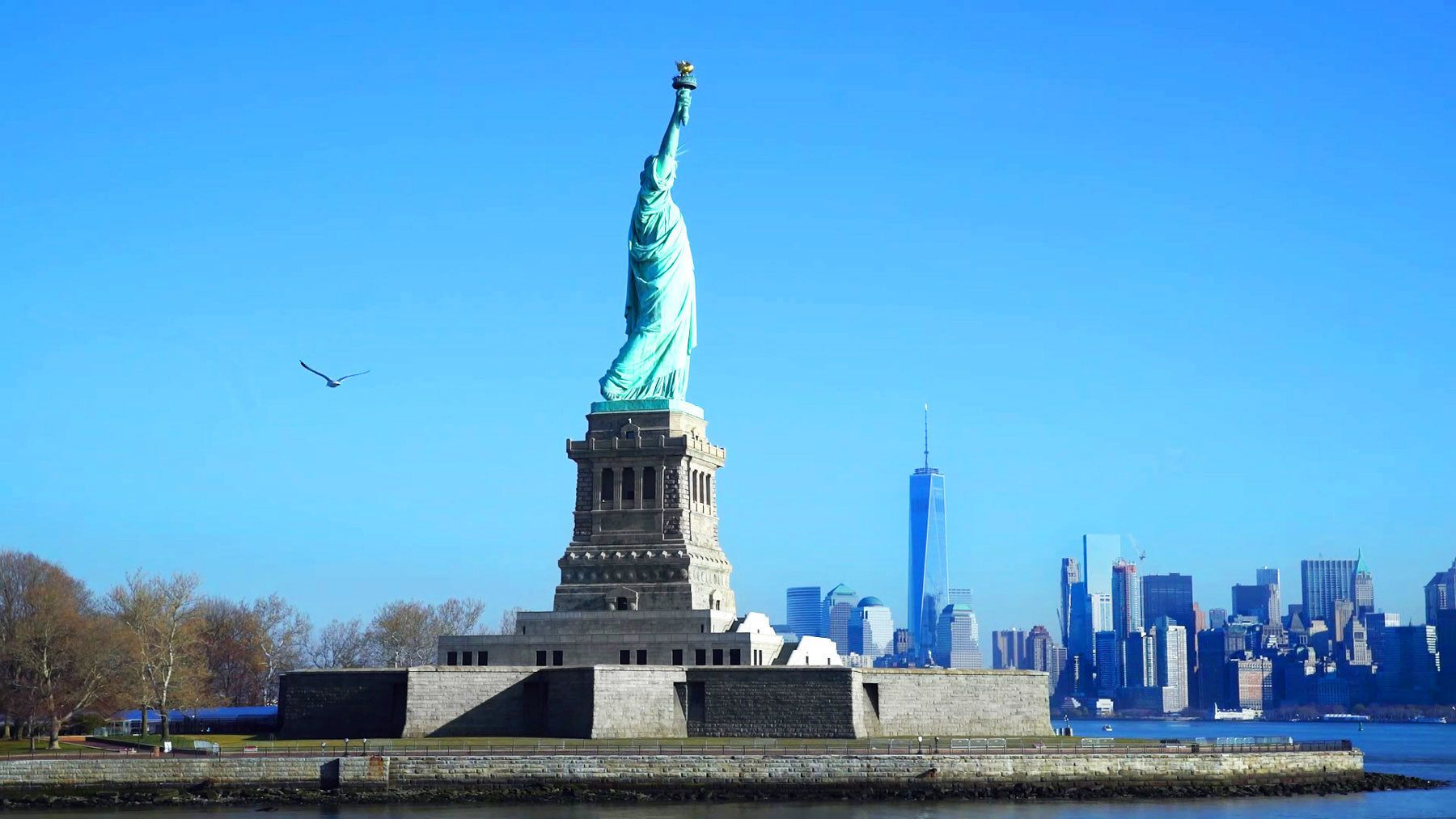 Statue of Liberty on Ellis Island