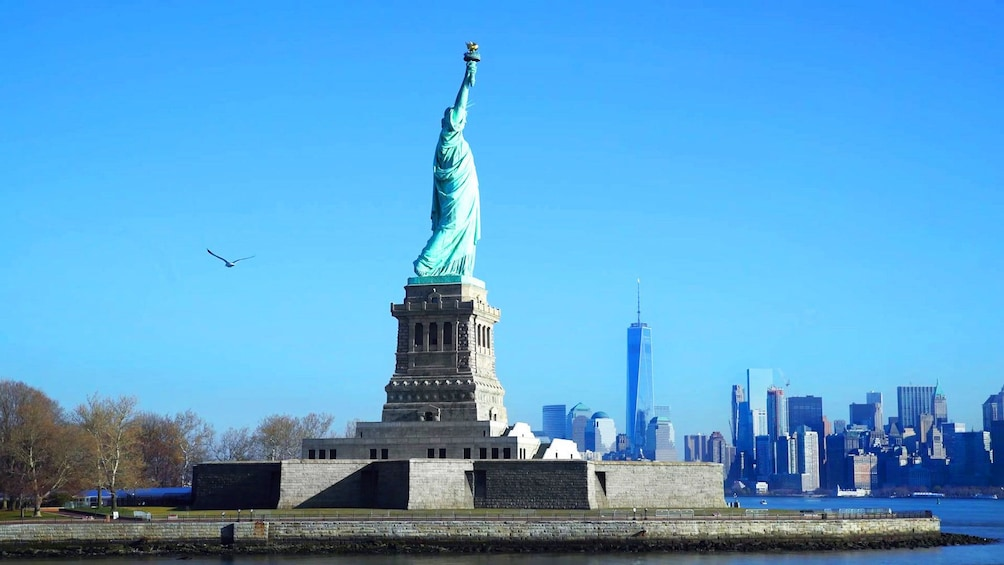 Show item 4 of 9. Statue of Liberty on Ellis Island