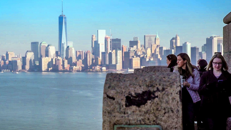 Tourists on Ellis Island