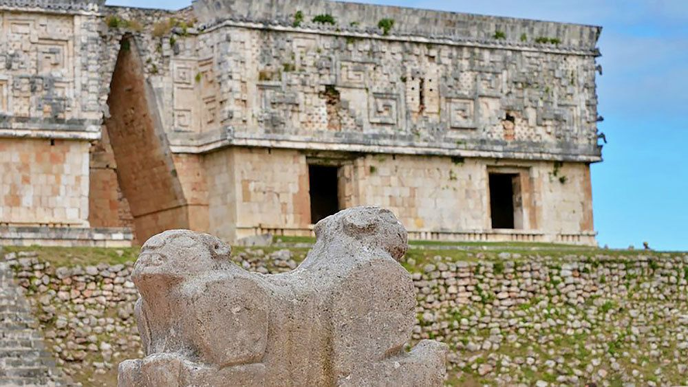 Site of Uxmal in Mexico