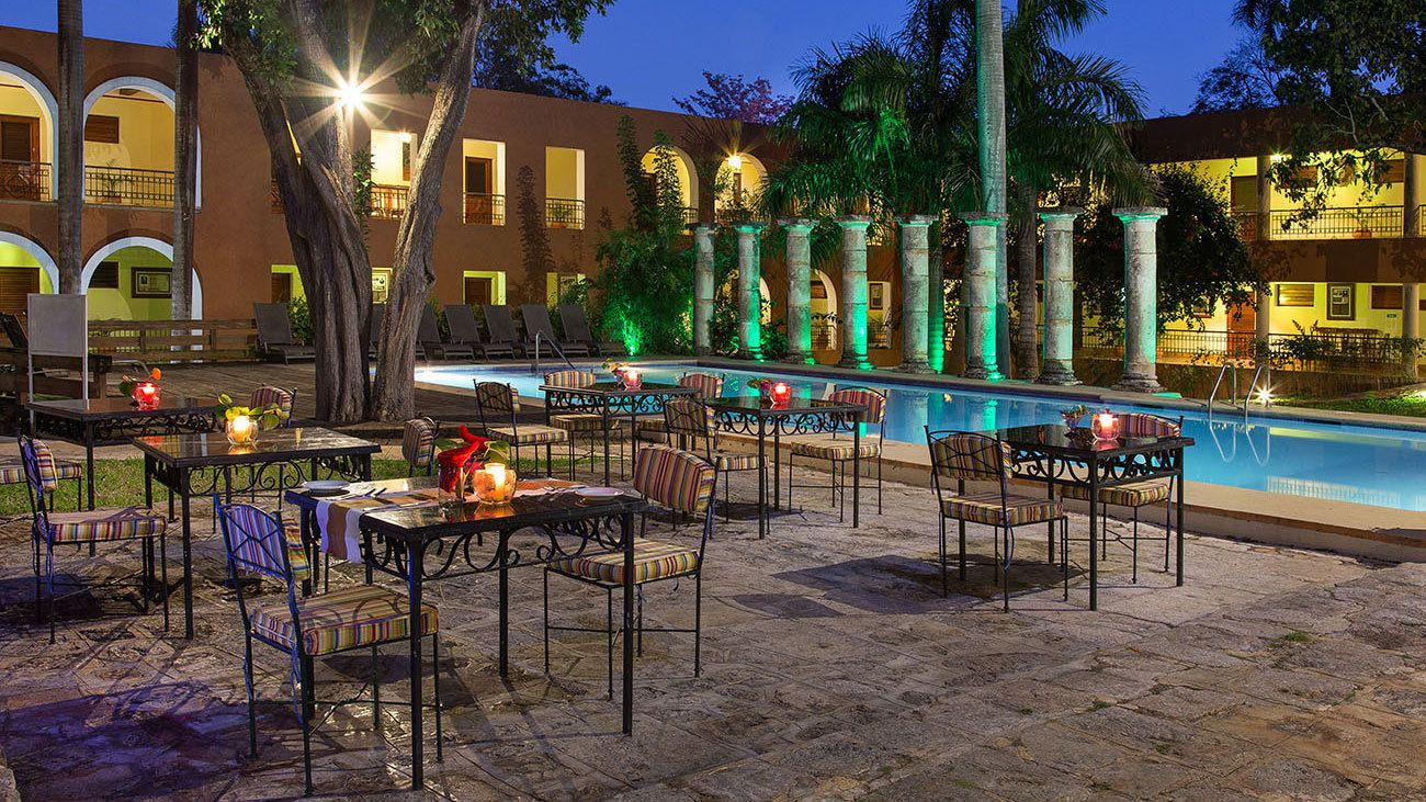 Night hospitality at the hotel in Mexico