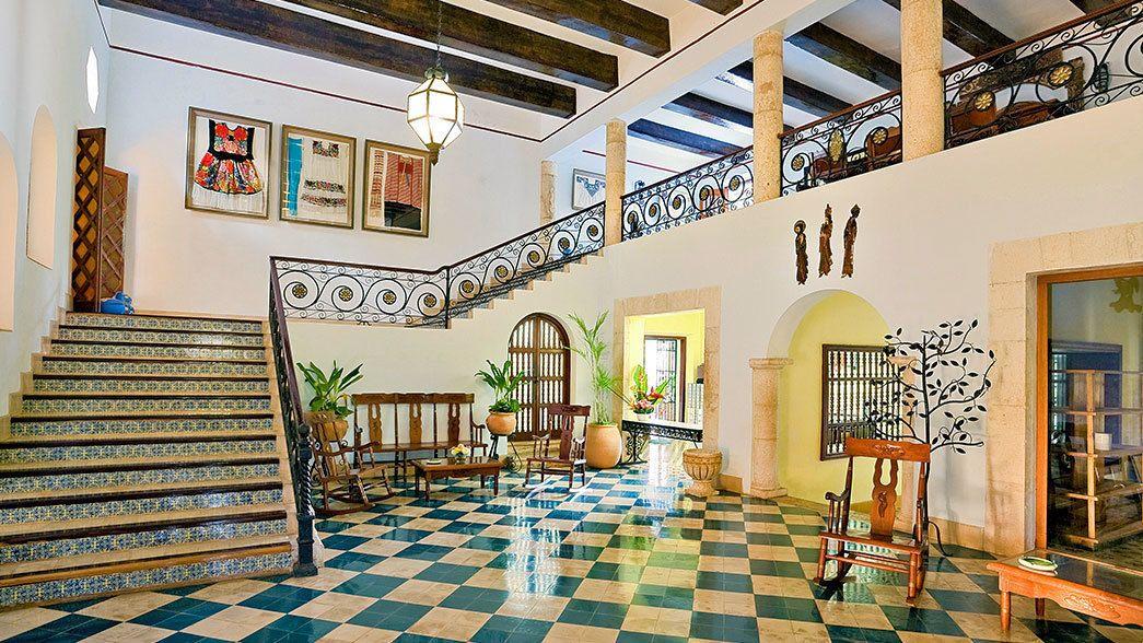 Hotel lobby in Mexico