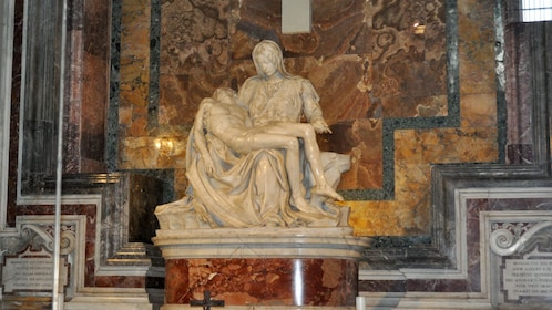 Pietà sculpture by Michelangelo in St. Peter's Basilica in Vatican City.