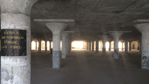 Interior of historical building in the Brooklyn Army Terminal
