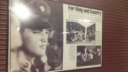 Informational sign of Elvis Presley at Brooklyn Army Terminal