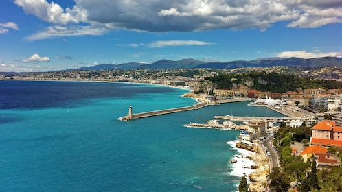 The port of Nice and lighthouse in France