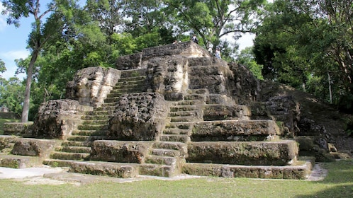 Ruins of a temple pyramid in Uaxactun