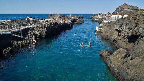 Lava formed water channel in Spain