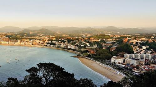 Panoramic view of San Sebastian and shoreline