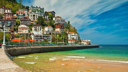 The coastal city of San Sebastian in Spain