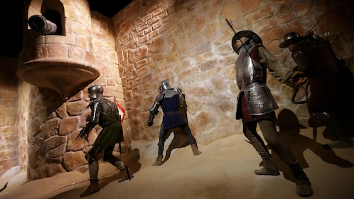 wax statues depict Portugal battle scenes at theme park in Porto