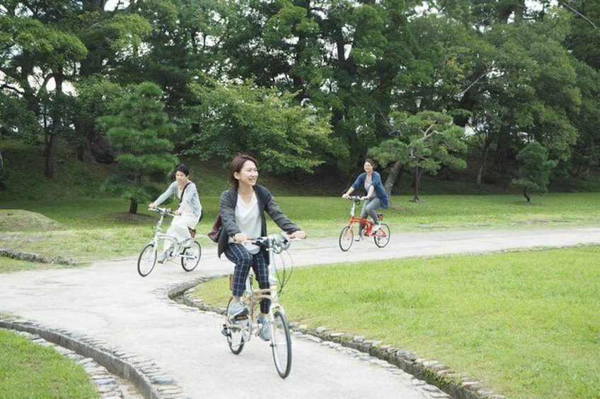 Show item 1 of 17. Take a bicycle and play around the city! Water City Matsue Cycling Guided Tour