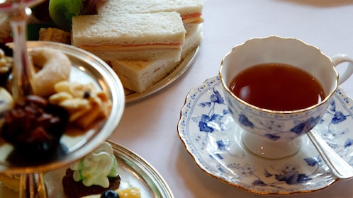 Tea and sandwiches from Anna's Afternoon Tea in London