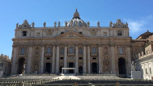 An old classical building in the Vatican