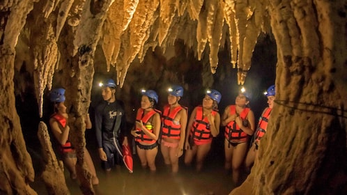 Exploring the Mystic River caverns in Mexico