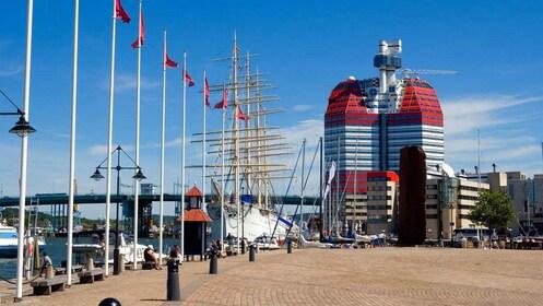 Modern building on the docks in Gothenburg