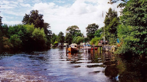 Tree-lined waterway in Gothenburg