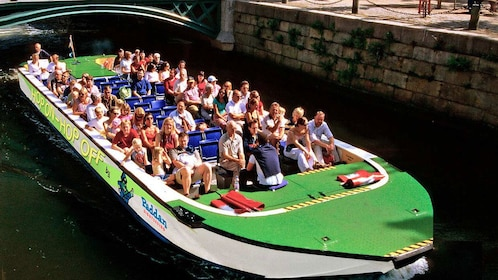 Open-Top Hop-On Hop-Off boat with passengers in Gothenburg