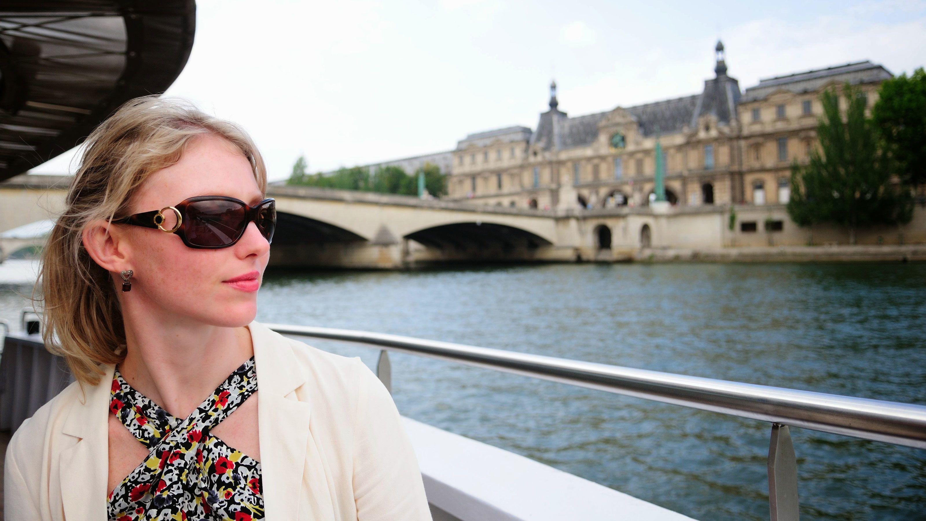 Aboard the river cruse in Paris