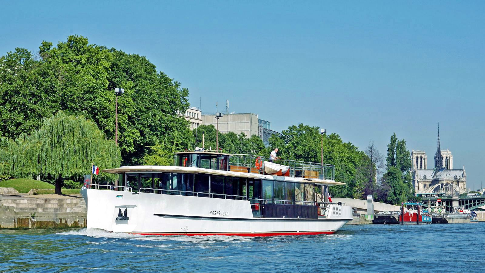 Cruise boat on the Champagne river in Paris