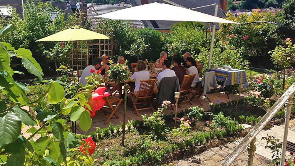 Show item 4 of 5. Lunch at local garden in France